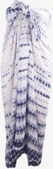Sarong met tie-dye print in blauw-wit