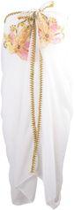Ivoorkleurige sarong met goudkleurige borduursel