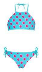Snapper Rock - Halter bikini voor meisjes - Frambozen stippen