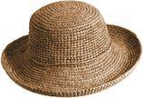 Scala - Gehaakte Raffia hoed voor dames - Kaki