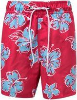 Snapper Rock - Boardshort voor jongens - Hibiscus - Rood/Lichtblauw