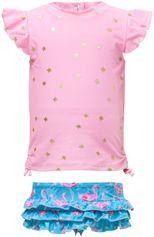 Snapper Rock - UV-Zwemset met ruche - Flamingo Star - Roze/Blauw