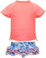 Snapper Rock - UV-Zwemset met ruche - Cottage Floral - Roze/Blauw