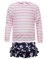 Snapper Rock - UV Zwemset for Babies - Navy Orchid - Roze/Donkerblauw