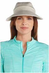 Coolibar - Afritsbare UV-zonneklep voor dames - Visgraat naturel
