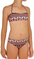Olaian Meisjes bikini met bandeautop Liloo Samoa koraalroze
