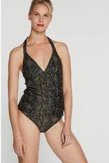 BEACHWAVE tankini bikinitop olijfgroen/zwart