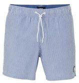WE Fashion gestreepte zwemshort lichtblauw/wit