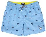 WE Fashion zwemshort met all over print blauw
