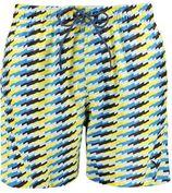 Puma zwemshort met all over print blauw/geel