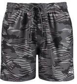 Puma zwemshort met all over print zwart/grijs