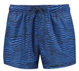 Puma zwemshort met all over print blauw/zwart