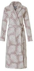ten Cate fleece badjas met all over print grijs/wit