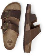JACK & JONES leren slippers bruin