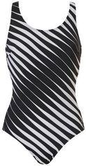 Tweka badpak met all over print zwart/wit