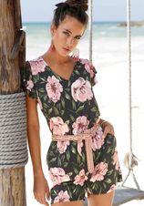 s.Oliver RED LABEL Beachwear korte jumpsuit met lage ruglijn