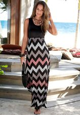 Lascana maxi-jurk met zigzagprint