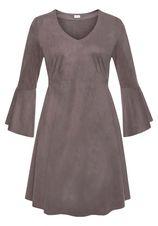 Lascana mini-jurk in suède-look