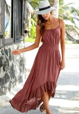 Lascana maxi-jurk in model dat voor kort en achter lang is