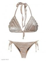 Bikini Triangle Velvet Beige