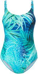 Badpak beugels en bladerprint voor Van Féraud turquoise