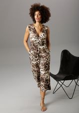 Aniston SELECTED jumpsuit in culotte-stijl met animal-print