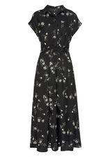 Vero Moda Midi-jurk VMFALLIE met vastgezette bindstrik