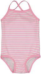 HEMA Baby Badpak Rib Strepen Fluor Roze (fluor roze)
