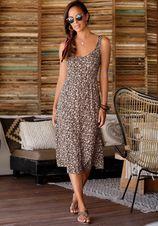 Lascana Midi-jurk met bloemetjesprint