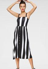 AJC Midi-jurk met gesmokte rugstreek