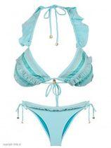 Triangle Bikini Rendas Aqua