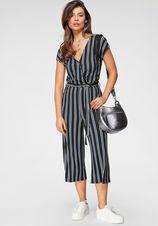 Tamaris jumpsuit in culotte-stijl met een bindceintuur