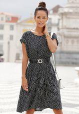 Lascana Gedessineerde jurk met stippenprint