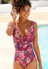 s.Oliver RED LABEL Beachwear badpak MARIKA met sierring en modellerend effect