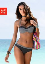 s.Oliver RED LABEL Beachwear bandeau-bikinitop Avni met aangerimpeld midden
