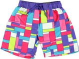 Color kids paars geblokte beachshort Silja voor meisjes
