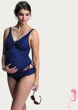 Petit Amour ZwangerschapsTankinitop Ava in mooi blauw/wit