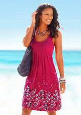 Beach Time strandjurk met bloemendessin