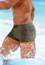 Olijfgroene zwemboxer van Bruno Banani