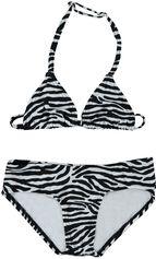 Just Beach zwart / witte triangle bikini Artentinie zebra