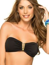 V-Bandeau Top Color-Mix Black