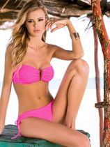 Veelzijdige neon roze bandeau bikini van PHAX