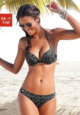 Push-up bikinitop met alfabet-print