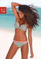 Push-up bikini met kleurrijk aztec-patroon