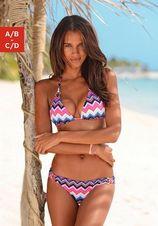 Lascana triangel-bikinitop PICO met gouden sierringen