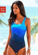 Sportief LASCANA badpak met prachtig rugpand | blauw of rood
