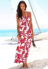 Lascana maxi-jurk met verstelbare hals