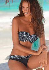 Bikinibroekje met gedessineerde omslagband
