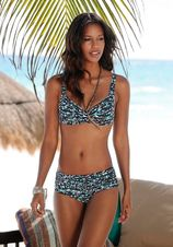 Bikinibroekje in hipstermodel met gekleurd dessin