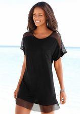 s.Oliver RED LABEL Beachwear lang shirt met mesh-inzetten